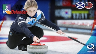 Scotland v USA (Women) - VoIP Defender World Junior Curling Championships 2017