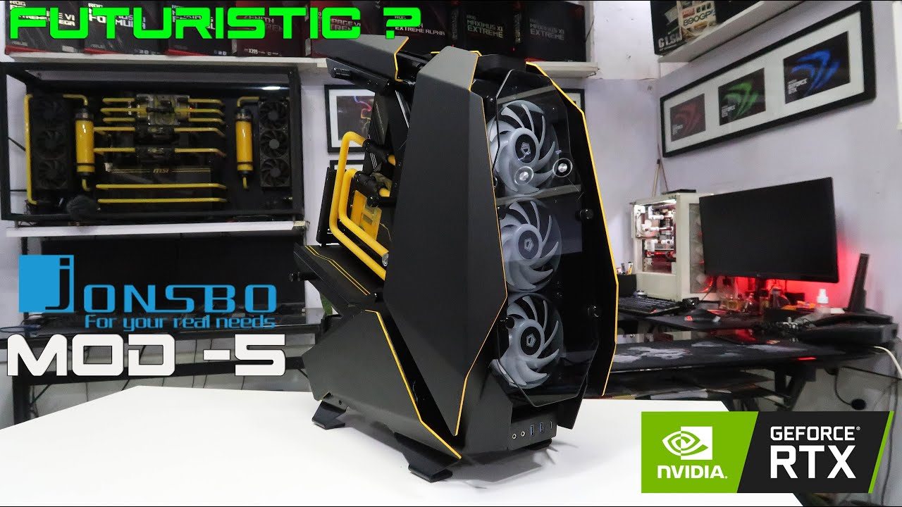 "Custom Pc Build #81  "" EVE "" Futuristic Gaming Pc on a Jonsbo Mod-5 Case"