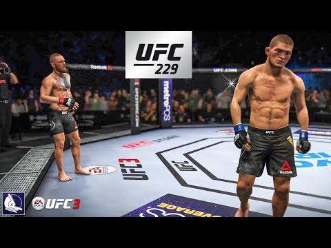 EA Sports UFC 3: Conor McGregor Vs Khabib Nurmagomedov (UFC 229 Championship Fight Simulation)