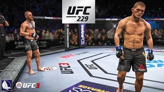EA Sports UFC 3: Conor McGregor vs Khabib Nurmagomedov (UFC 229 Championship fight simulation)