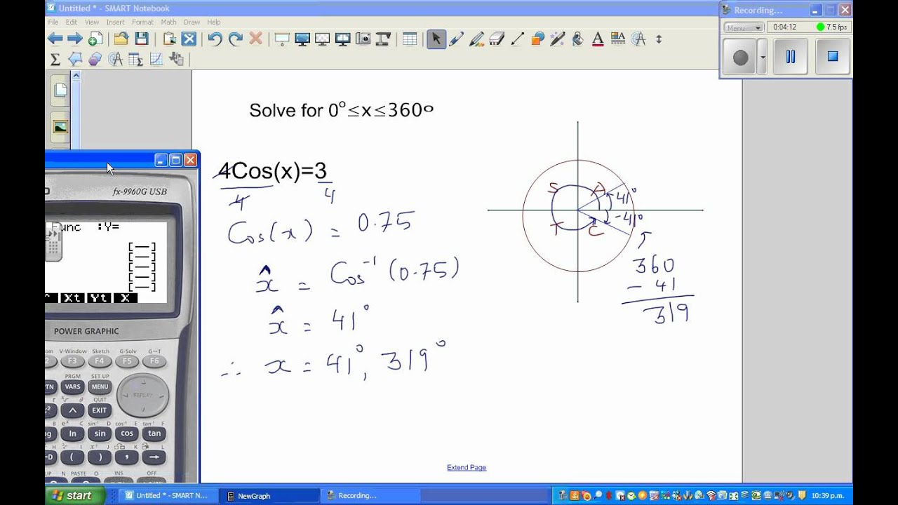 Solving trig equations using cast part 1 youtube solving trig equations using cast part 1 pooptronica Choice Image