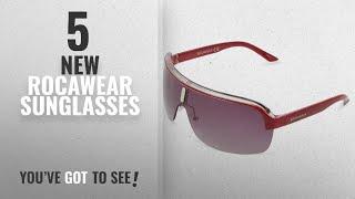 Top 10 Rocawear Sunglasses [ Winter 2018 ]: Rocawear R1282 RD Rectangular Sunglasses,Red,75 mm