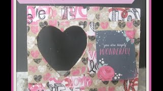 Diy Decoupage Valentine's Frame/ How To Decoupage A Wooden Frame /diy Valentine's Day Gift Ideas
