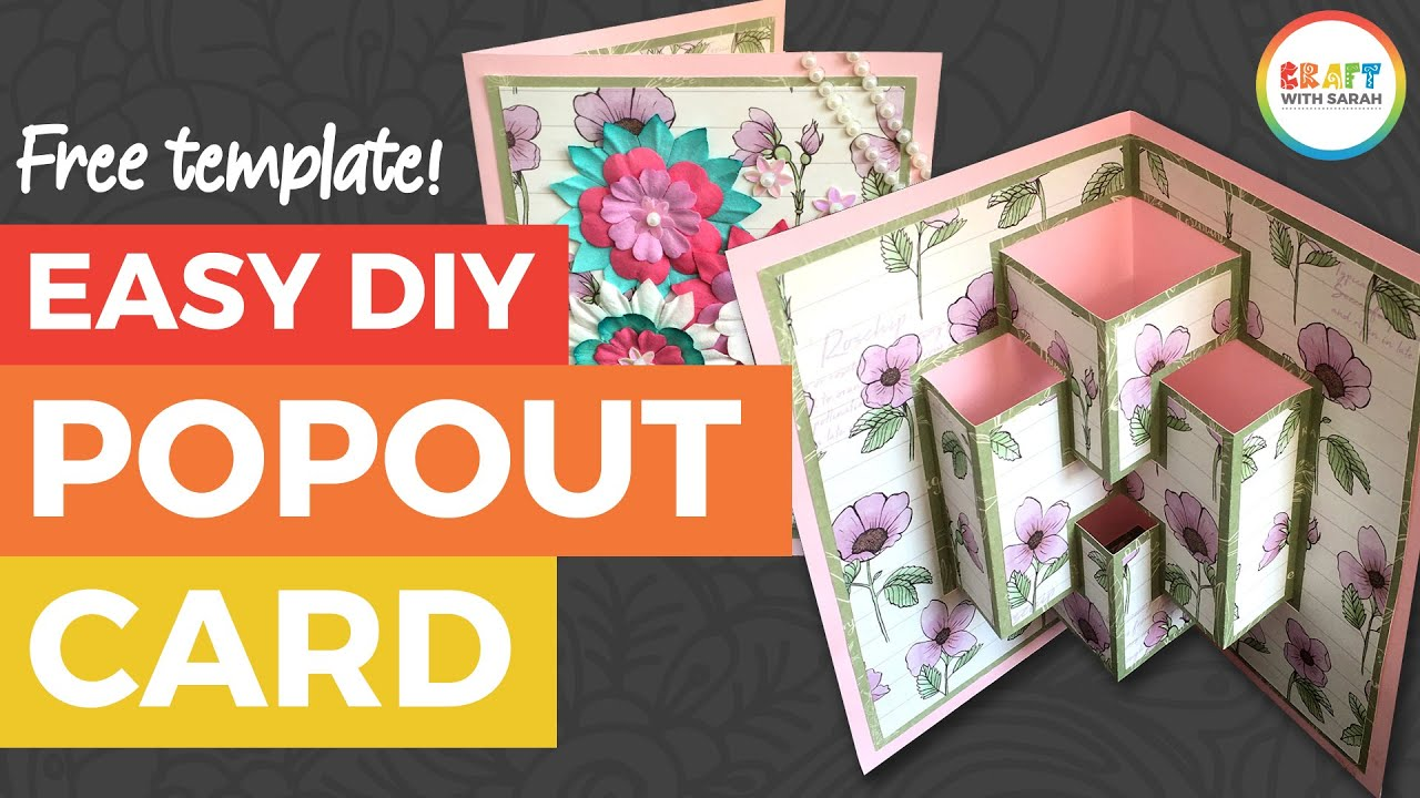 Easy DIY Pop Out Card + FREE Pop Up Card Template! - YouTube