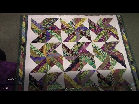 Part 2: Finishing up the Tradewinds Quilt with an Indian Batik Jelly Roll