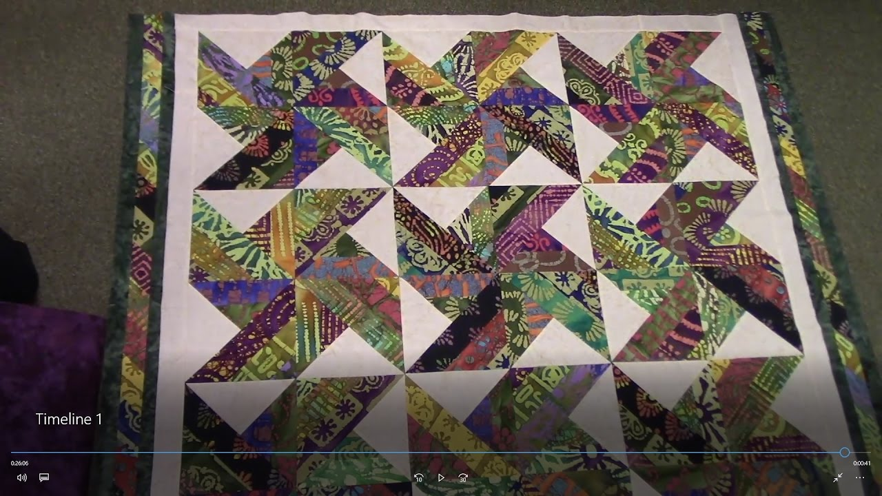 Part 2 Finishing Up The Tradewinds Quilt With An Indian Batik Jelly