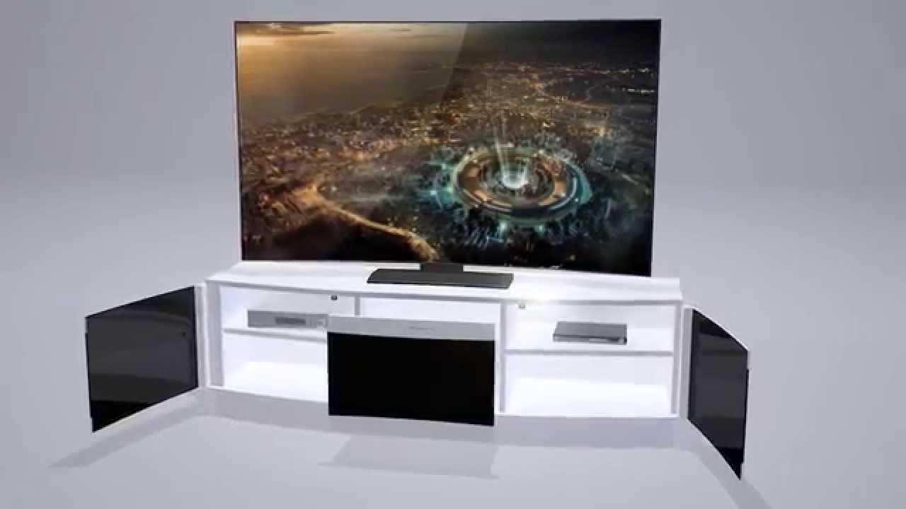 Bismot Curved Tv Stand Presentation Tanitim Video Youtube