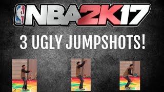 nba2k17 3 ugly jumpshots myplayer jump shot creator