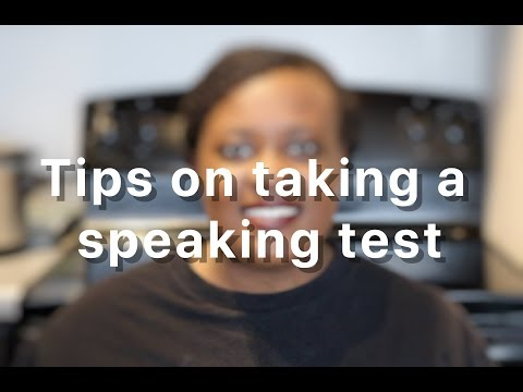 Taking An Oral Proficiency Test