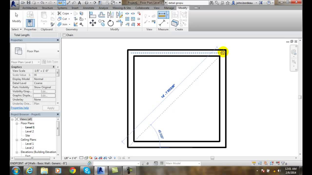 Revit Measuring Distance Between References And Along An - Elevation level by address