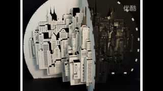 Exquisite three-dimensional paper-cut art
