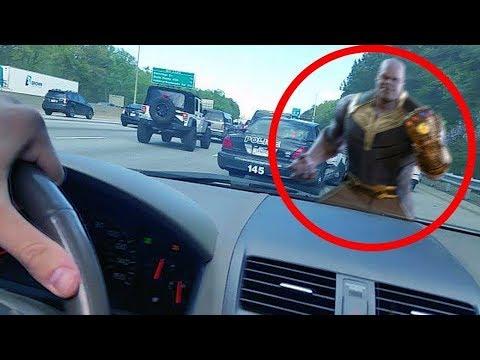 Gerçek Hayatta Kameraya Yakalanan 6 Thanos Ve Avengers: Infinity War Videosu