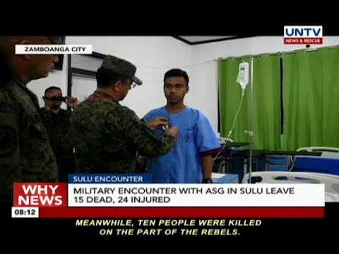 Military encounter with Abu Sayyaf Group in Sulu leaves 15 dead, 24 injured