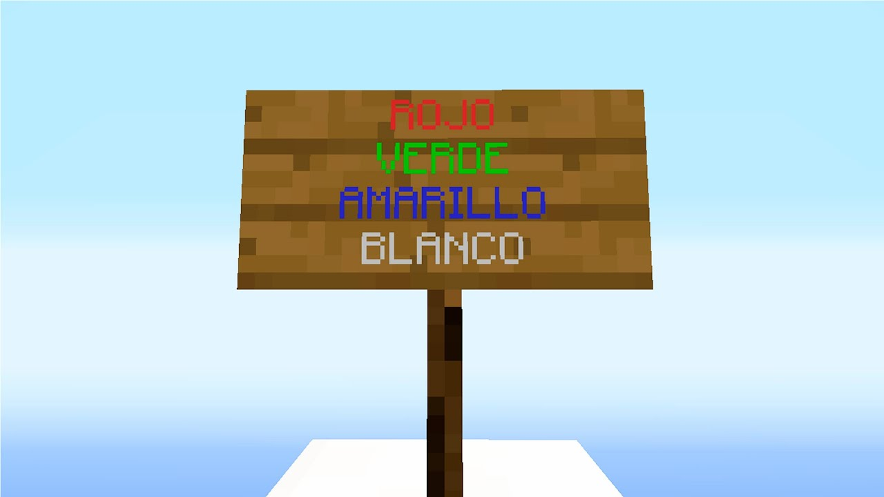 Textos de colores en Minecraft - Tutorial - YouTube