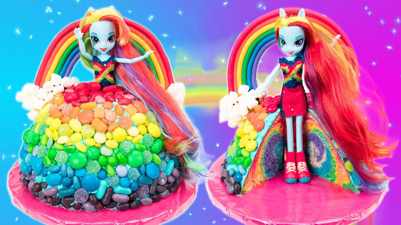 Rainbow Dash Cake Equestria Girls My Little Pony Cake YouTube