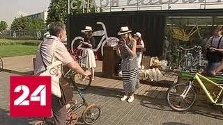 Смотреть видео На работу на велосипеде: