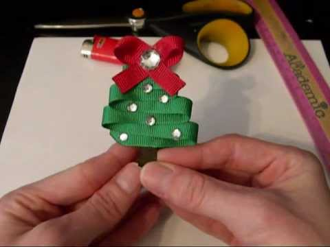 how to make a christmas tree out of ribbon tutorial by just add a bow youtube. Black Bedroom Furniture Sets. Home Design Ideas