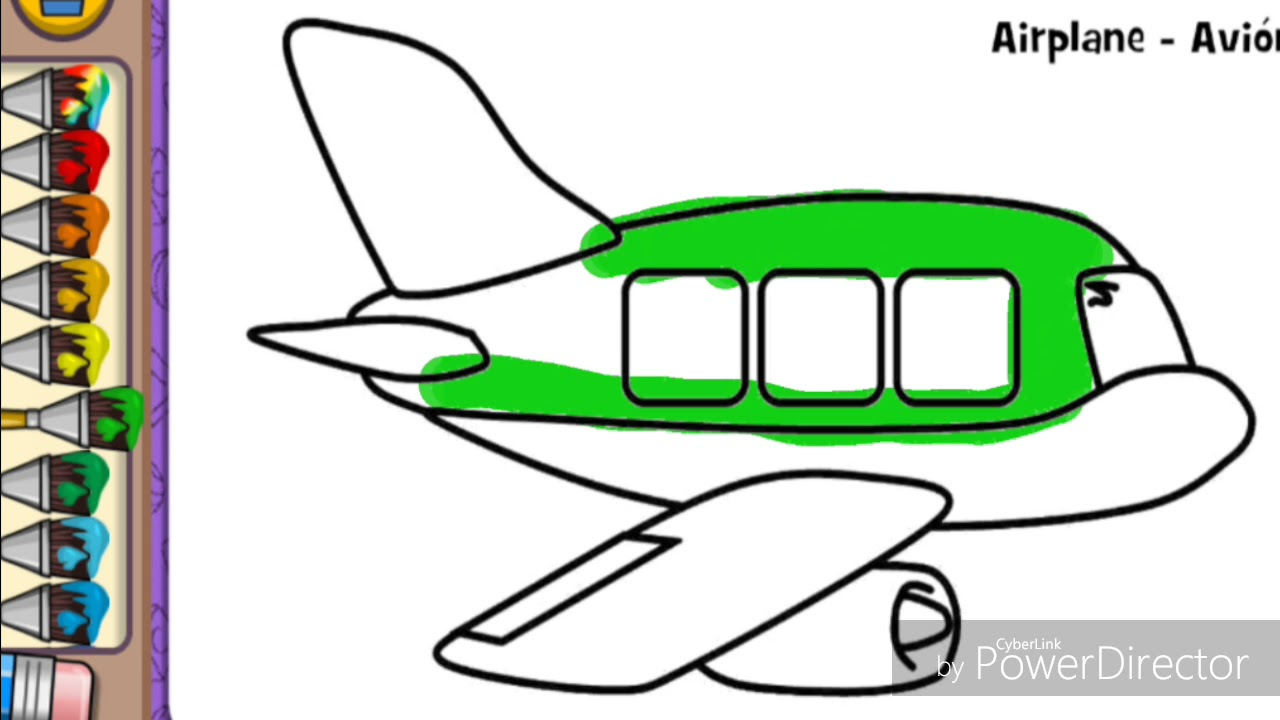 how to draw airplane how to coloring airplane