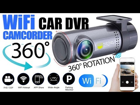 360° Rotation Mini Car WiFi DVR Camera With 720P Car Dash Cam Rear Camera Dual Lens Video Recorder