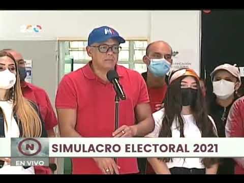 Jorge Rodríguez, declaraciones este 10 de octubre de 2021 durante simulacro electoral