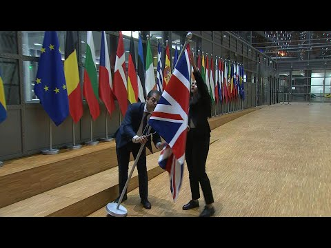 Brexit: UK flag removed from European Council's Europa Building in Brussels | AFP