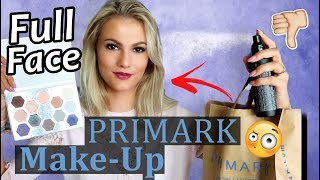 FULL FACE PRIMARK MAKE-UP mit 1€ Produkt 😳 I LIVE TEST Top oder Flop I CINDY JANE