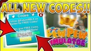 All Roblox Pew Pew Simulator Codes