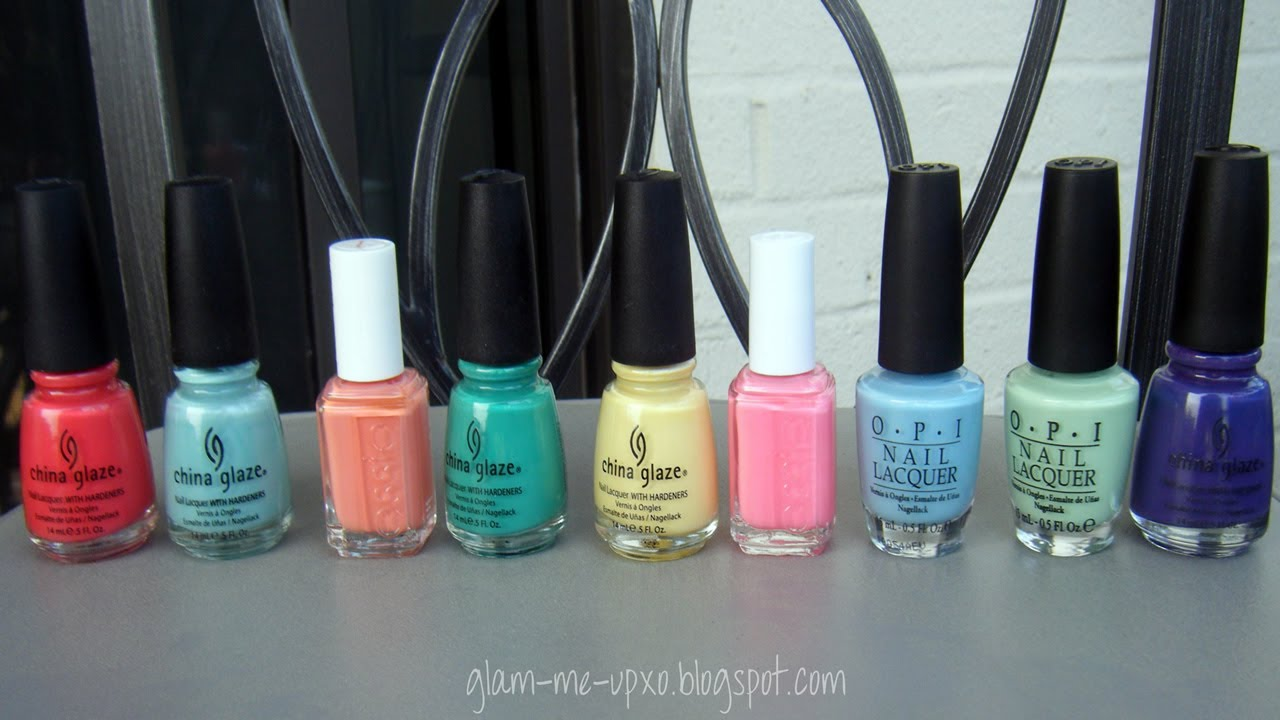 Nail Polish Combos/Color Blocking for Spring & Summer - YouTube