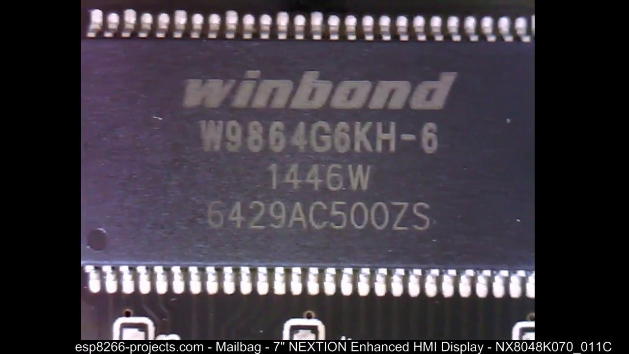 Nextion HMI Enhanced NX8048K070_011C Display - Part 3 - closer look