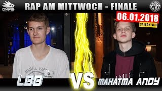 RAP AM MITTWOCH LEIPZIG: LBB vs MAHATMA ANDY  06.01.18 BattleMania Finale (4/4) GERMAN BATTLE