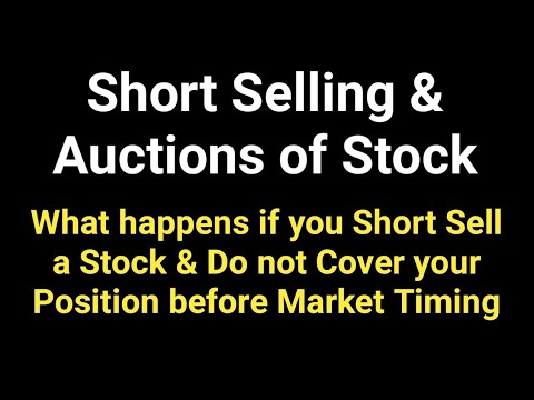 What is Short Selling & Auction of Stock | Intraday Short Selling Myths in Share Market