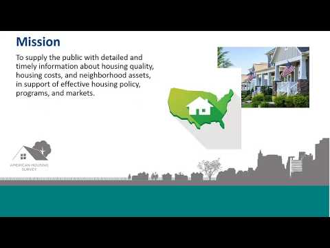 Webinar: Introducing The American Housing Survey