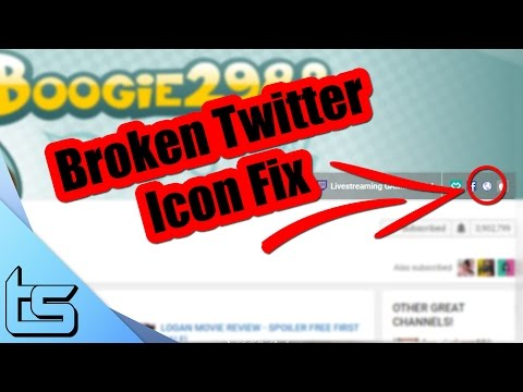 How To Fix The Twitter Icon on a YouTube Channel