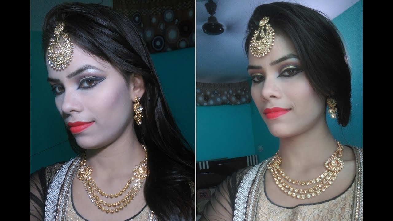 Heavy Full Face Bridal Makeup Easy Wedding Party Makeup Tutorial Youtube
