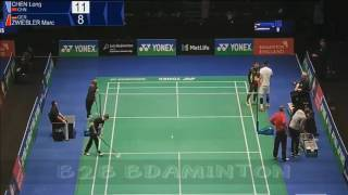 2017 yonex all england open r32 ms chen long vs marc zwiebler