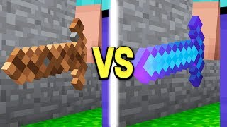 DIRT SWORD vs DIAMOND SWORD IN MINECRAFT!