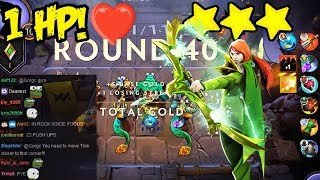 Playing With 1 HP! Dota Underlords Auto Chess Close Game