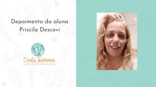 Depoimento da aluna Priscila Descovi, Chef Docente em Panificação em SP