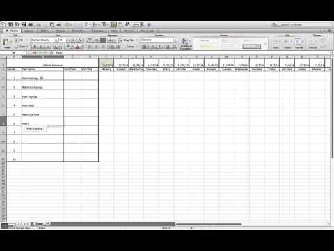 How to Build a Simple Three Week Rolling Schedule in Excel.