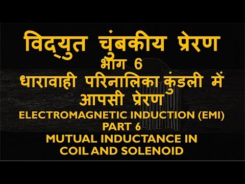 Electromagnetic Induction (EMI) Part 6 Mutual Inductance Adjacent Inductive Coil, Solenoid
