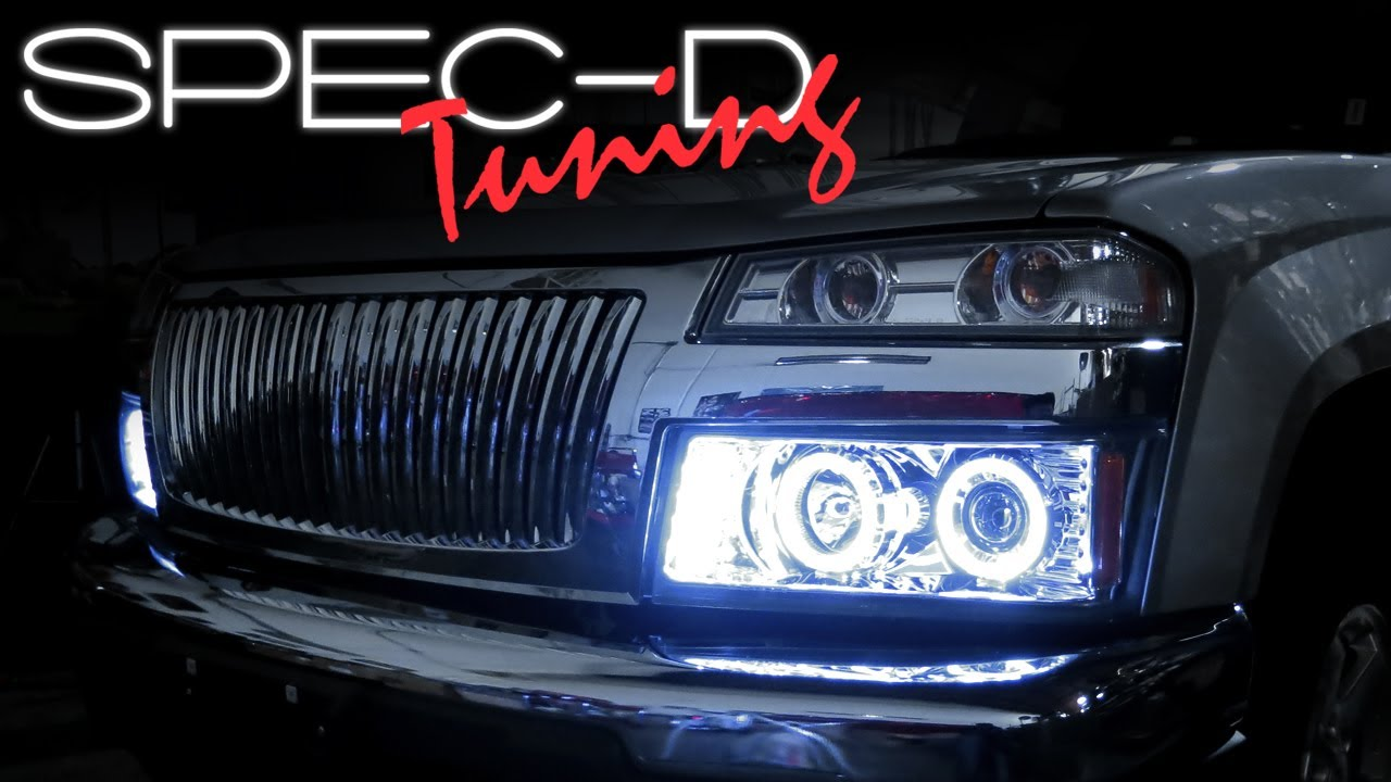 hight resolution of specdtuning installation video 2004 2011 chevy colorado gmc canyon headlights youtube