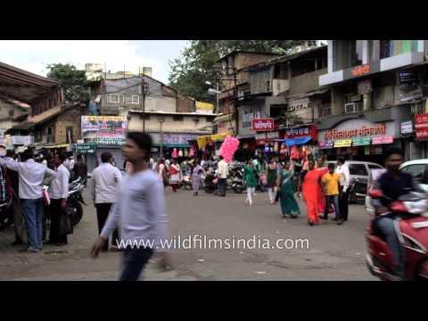 Main Road Market Of Nashik, Maharashtra