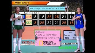 Rd4. China vs Kenya - Volleyball Women's Challgle CUP JAPAN 2018.
