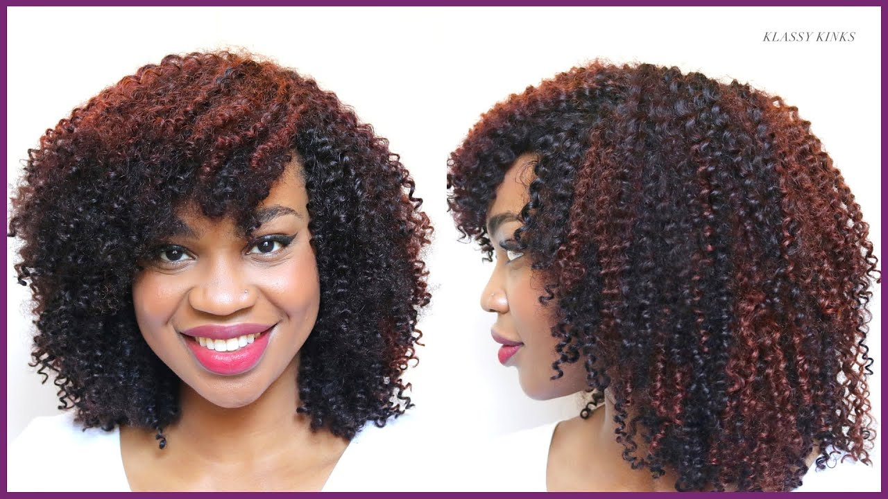 How To Color Curly Hair Extensions Burgundy Copper Custom Color