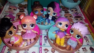 Детский канал Даша-Dasha Куклы L.O.L surprise 1-го сезона  и GLITTER SERIES распаковка