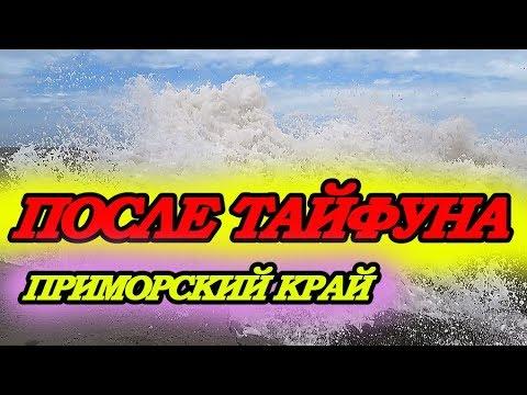 Обзор пляжей после тайфуна. Приморский край Большой Камень.