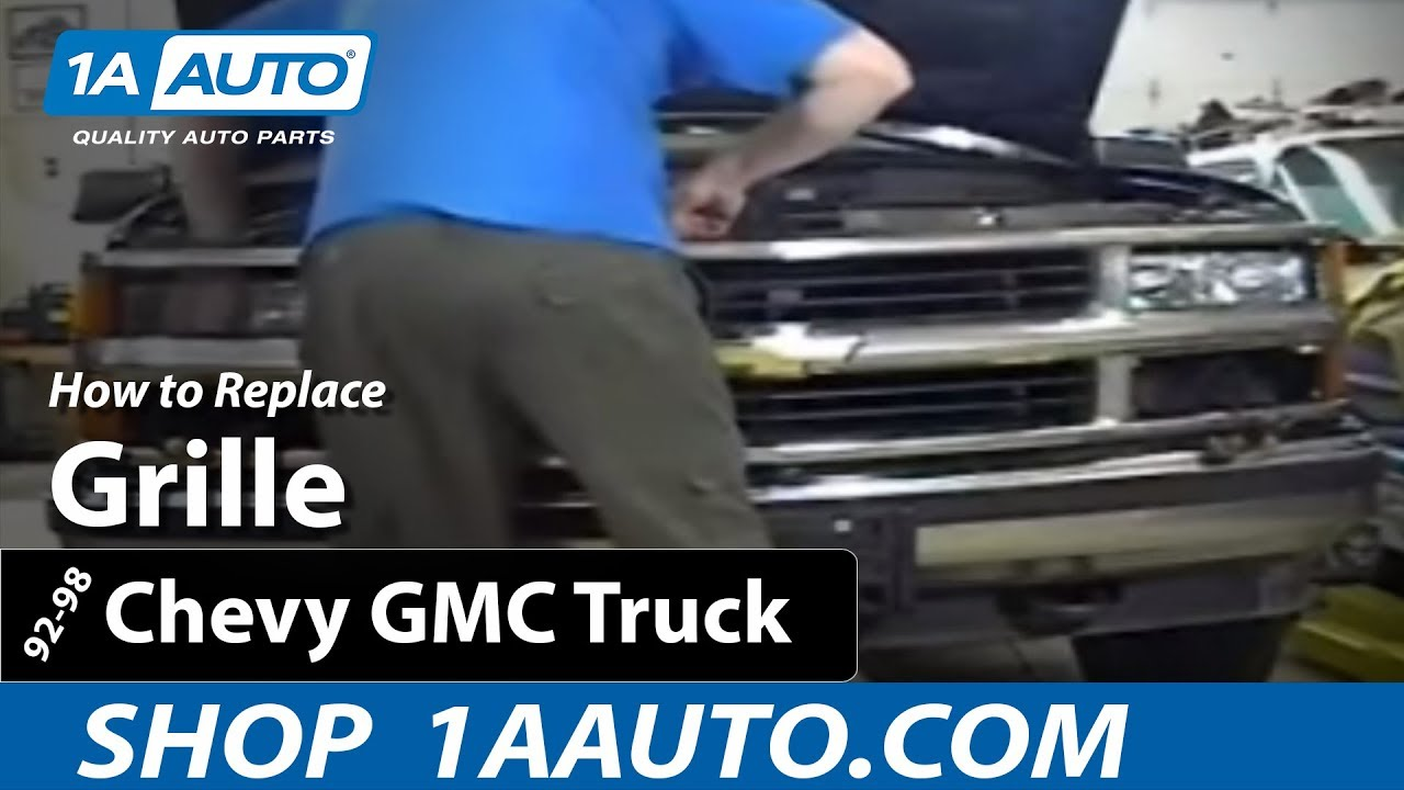 How To Replace Grille 92 99 Chevy Suburban