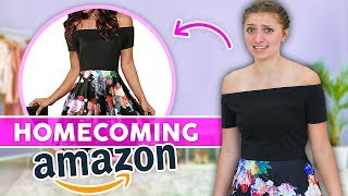 Trying on Homecoming Dresses Under $30 from AMAZON