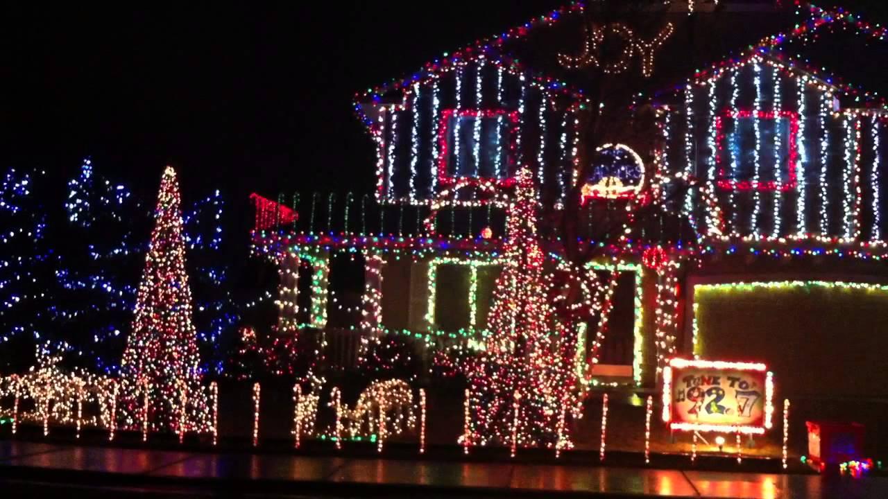 Christmas Lights in Meridian Idaho - YouTube
