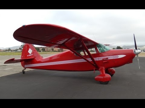 Flight on 1946 Stinson 108-1 Voyager, Lompoc Airport, CA. Santa Barbara County GoPro Onboard Footage